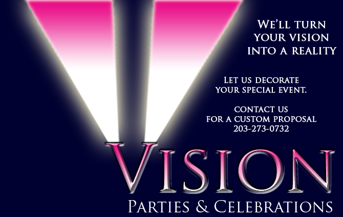 Party Decorators, Stamford CT, New York City NY, VISION PARTIES
